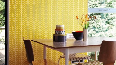 La couleur moutarde la tendance c t peinture artisan peintre nantes - Papier peint jaune moutarde ...