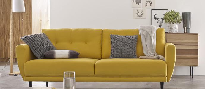 la couleur moutarde la tendance c t peinture. Black Bedroom Furniture Sets. Home Design Ideas
