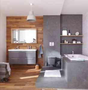 La salle de bain en béton ciré