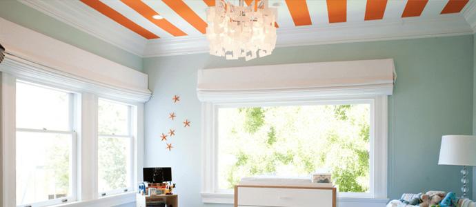 Tendance : la peinture au plafond